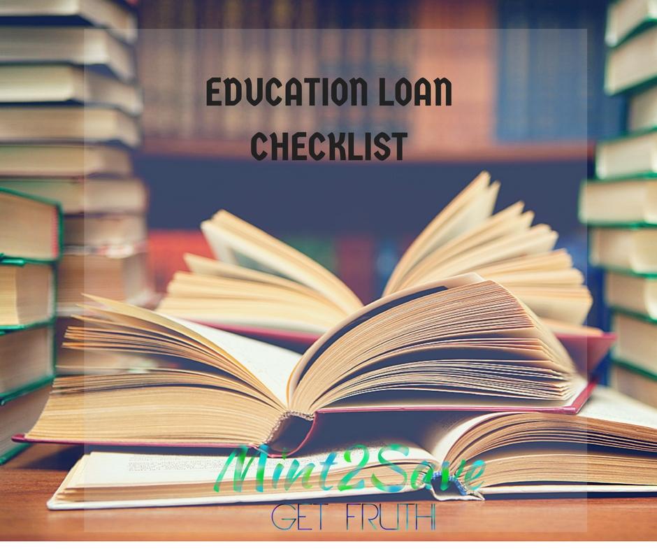 EDUCATION LOAN CHECKLIST | Education Loan