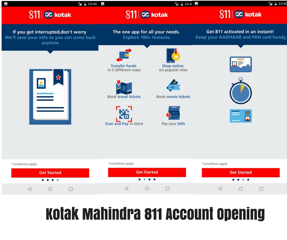 Kotak 811 Account opening